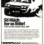 Team Hartwell 1 Litre Hillman Imp tuning advert