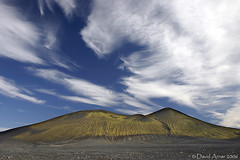 In the middle of nowhere (davidarnar) Tags: blue sky mountain nature rain clouds landscape iceland moss highlands sand stripes hill nowhere shapes scandinavia desolate striped landmannalaugar cotcpersonalfavorite awesomenature terrascania fjallabak friland fridland