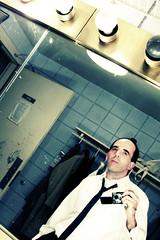 93 Thursday - Mr. Paul Bratter, lousy stinkin' drunk - (roujo) Tags: theatre 365 backstage 365days barefootinthepark paulbratter hewearsfullsuitsandties ihatesuitsandties