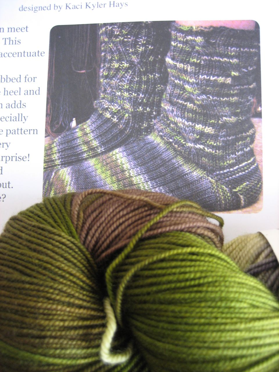 Inside out STR socks, Monsoon STR yarn
