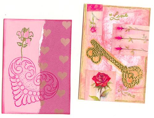 Love & Roses ATC's