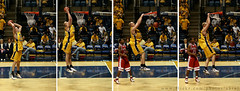 Slam Dunk - college basketball (Abdullah AL-Naser) Tags: blue school red west college sports basketball yellow canon gold virginia slam interesting jump university state slide 100mm delaware slides morgantown wvu dank 30d abdullah