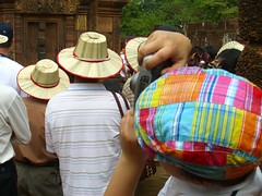 Tourists at Banteay Srey