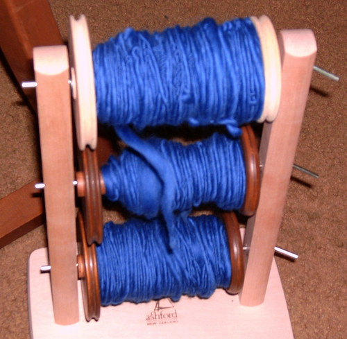 Blue Merino on Lazy Kate closer