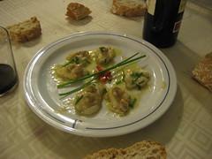 Kokotsas con berberecho como plato de pescado