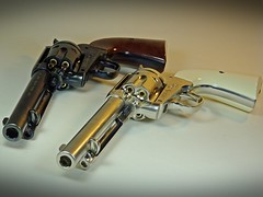 Umarex – Full Metal – Colt SAA Peacemaker - BB CO2 Pistol – Nickel & Blued Version – Muzzle Shot (My Toy Museum) Tags: umarex metal pistol gun airgun bb nickel blued colt single action army peacemaker
