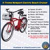 X-Treme Newport Electric Beach Cruiser (urbanscooters) Tags: xtreme newport beachcruiser lifepo4 liion electricbikes beachcruisers shimano powerassist ebikes bike bikes
