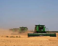 Four combines (Marvin Bredel) Tags: oklahoma rural farm harvest machine machinery combine agriculture farmmachinery ilikethese wheatharvest wheatmosaic marvin908 marvinbredel