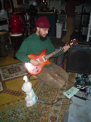 Brendan played the guitar *AND* the theremin for a while at the Redbud Slumber Party v2.0 (CatrinaZ) Tags: family friends party music livemusic 2006 brendan theremin redbud slumberparty ocha 1206