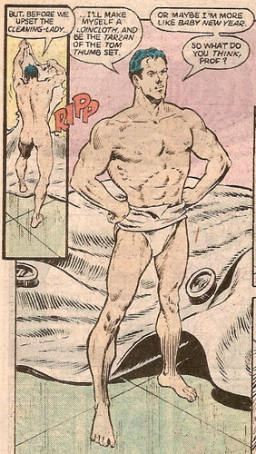 Wow, male back-al nudity in a DC comic! And he's not even Doctor Manhattan!
