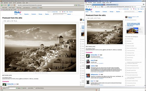 Old vs New - Flickr High Res greasemonkey script Screen Shot