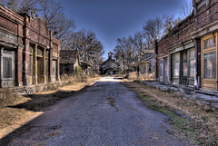 Old Town HDR (sunsurfr) Tags: old movie topf50 nikon decay alabama structure explore d200 hdr smalltown bigfish photomatrix nikonstunninggallery sunsurfr