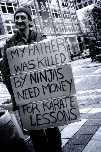 need money. to fight ninjas