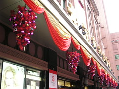 Beijing - Wangfujing - Department Store w/ Pink Christmas Trees