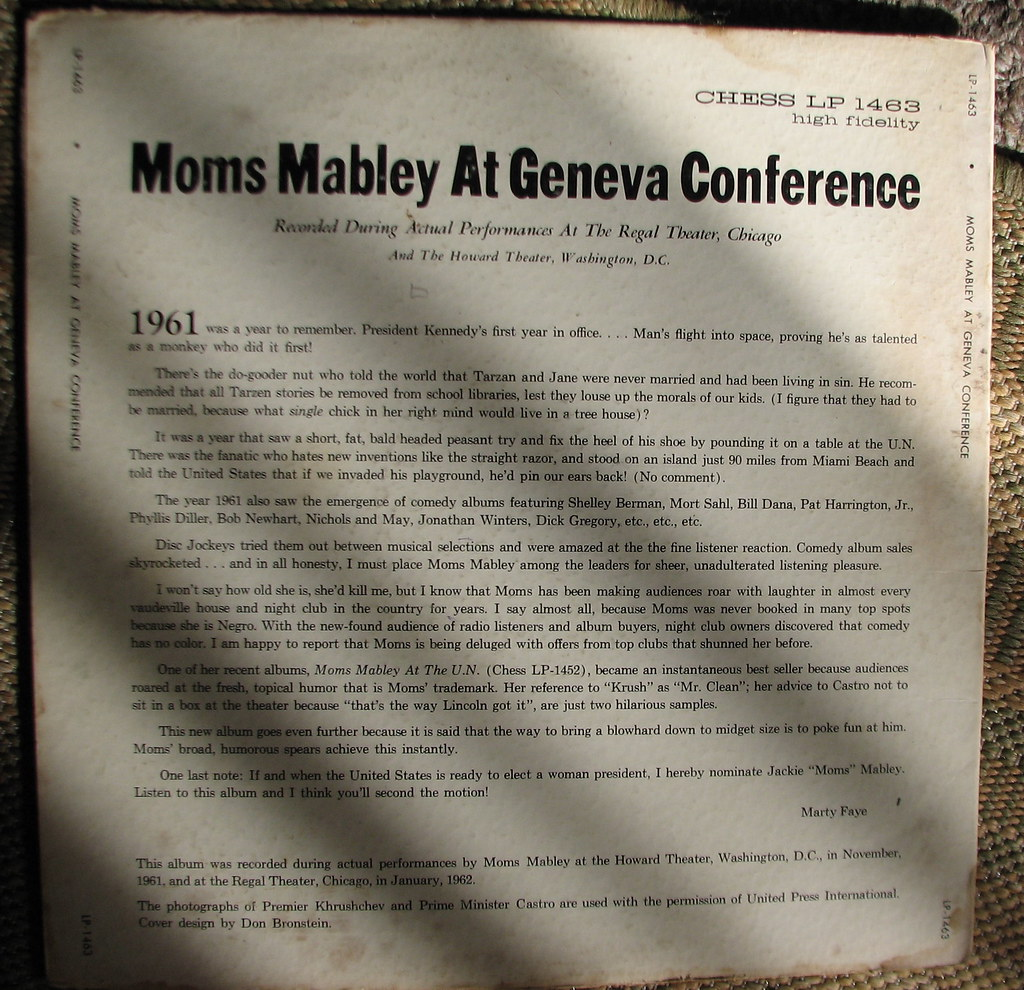 moms mabley at geneva conference
