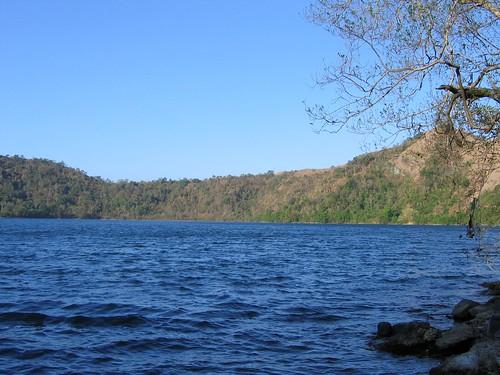 Isolated island lake