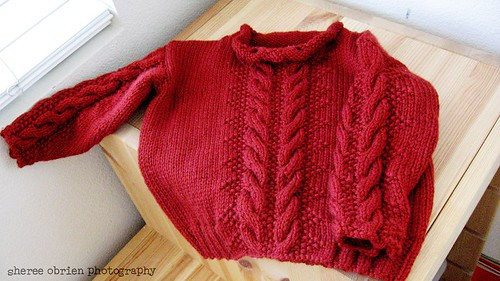 MB's completed sweater