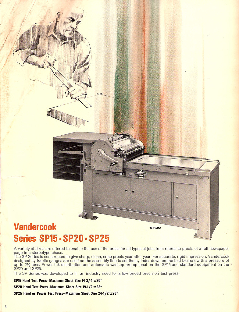 Vandercook Brochure
