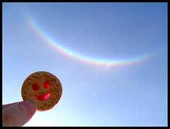 Smiles and Rainbows (Pol N) Tags: iris smile arcoiris rainbow cookie arco sonrisas galletita bizcocho