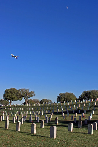 Plane, Moon & Headstones