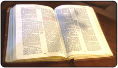 Bible with Cross Shadow by knowhimonline on Flickr