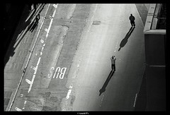 Street Photographer (Arnold Pouteau's) Tags: street nyc newyorkcity shadow people bw silhouette noiretblanc manhattan photographerinaction