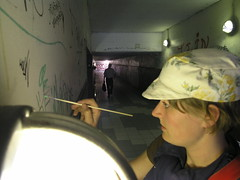mint tunnel (louise ry mathiasen) Tags: streetart painting graffiti tag tunnel tags decorate kolding paintover