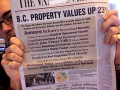 Tag clouds hit the front page of the newspaper
