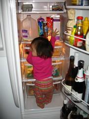 Ro thinks she needs to climb into the fridge