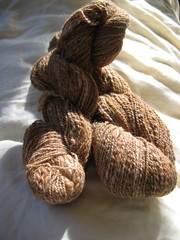 handspun alpaca/merino/silk - from J.'s mom