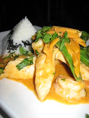 Chicken & Shrimp Panang Curry With Snap Peas & Pumpkin