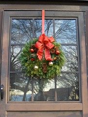 Christmas wreath photo by Joe Shlabotnik.