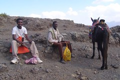 Mesfin, mule driver and mule (CharlesFred) Tags: 2005 africa travel mountains african ethiopia mule lalibela wollo mesfin