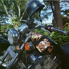 Bike - Brunei (Pantai Seri Kenangan, 2006) (ndnbrunei) Tags: rolleiflex rolleigallery