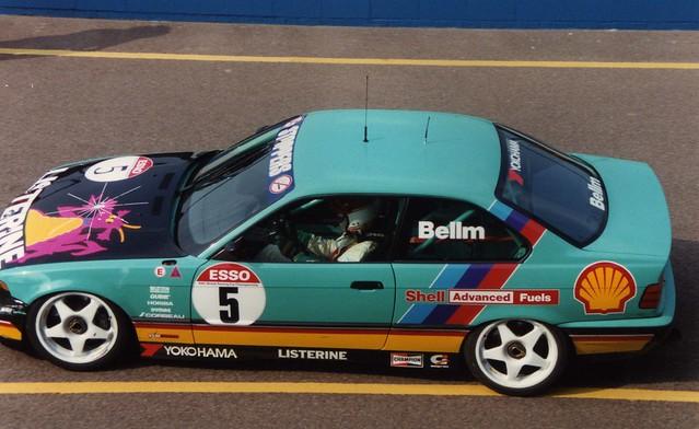 bmw 1992 motorracing btcc donington touringcars britishtouringcarchampionship bmw318 bellm raybellm