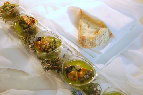 escargot with smoking thyme