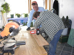 Dad and I working on the new floor (Ludeman99) Tags: home me dad improvement
