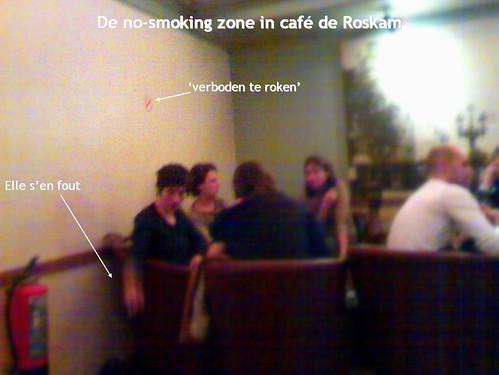 De rookvrije zone in de Roskam