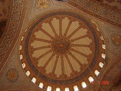 Corak Dalaman Kubah Blue Mosque, Istanbul, Turkey