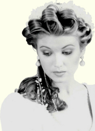 Vintage Updo Isn 39t this pretty I love the big curls like the kind we used