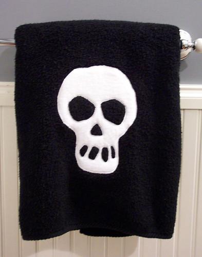 Skull towel