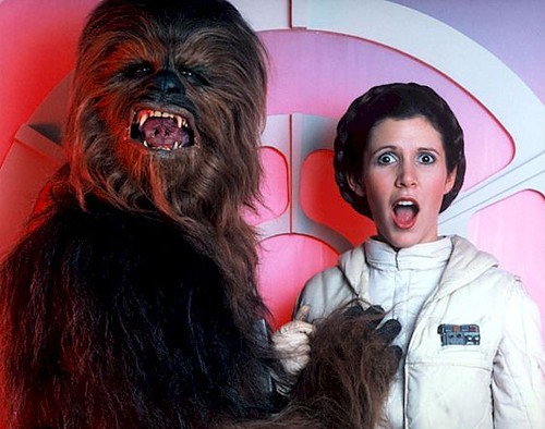 Star Wars - Chewie Loves Leia. Chewie groping Leia.