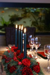 Xmas table DSC01387 (greekadman) Tags: xmas family roses house home architecture table lunch greek glasses design candle decoration athens greece sonydslra100