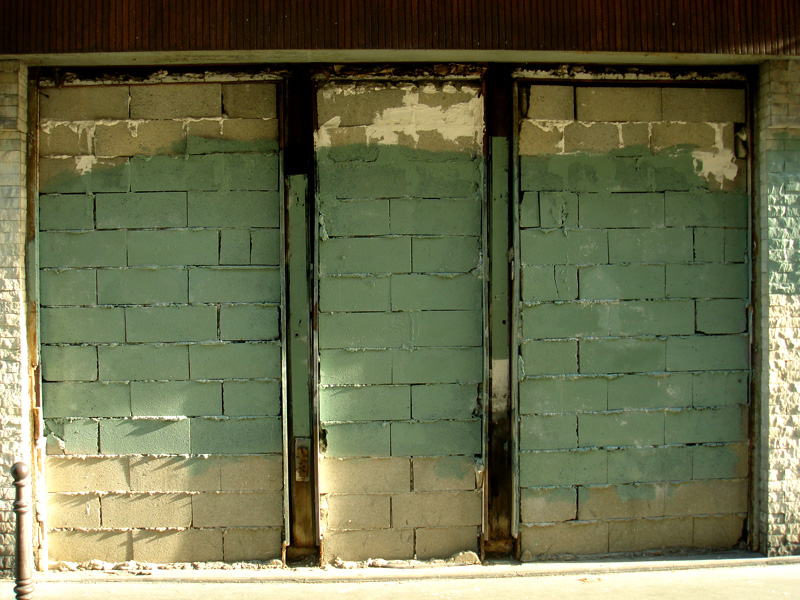 Bricked Up & Painted Green
