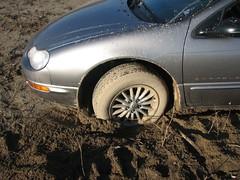 front wheel stuck