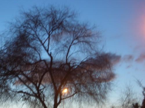 blurry cold sky