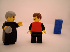 """Now Pay Attention Dougal! This Lego Brick Is Small, But That One Is Far Away!"" (Kaptain Kobold) Tags: ted lego father explore minifig myfave priests dougal sitcom fatherted craggyisland kaptainkobold interestingness336 yourfave i500"