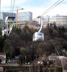Portland Aerial Tram going the other way