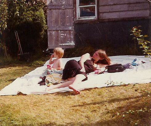 Lin  and Richard at the cottage 1985
