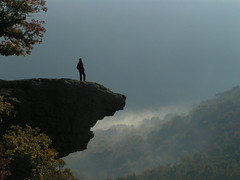 Acrophobic mountain climber.. (***TR.iPod) Tags: morning usa mountain beautiful silhouette rock bravo searchthebest tripod interestingness1 www hike arkansas soe mistry interestingness2 buffalor